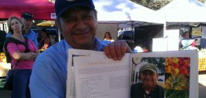 proud eddie showing off his picture in the cookbook!